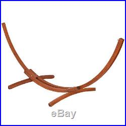 142x50x51 Wooden Curved Arc Hammock Stand with Cotton Garden Outdoor New