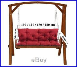 1-4Seater Replacement Cushions for Garden Swing Bench Chair Seat+Backrest 50-180