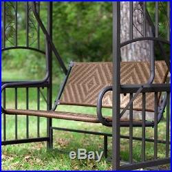 2 Person Gazebo Swing Outdoor Patio Porch Backyard Garden Deck Canopy Furniture