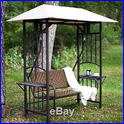 2 Person Gazebo Swing Patio Backyard Shade Canopy Deck Seating Furniture