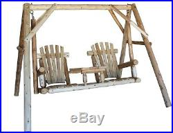 2 Person Wooden Porch Deck Patio Swing Outdoor Furniture Yard Free Shipping