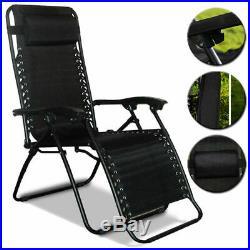 2 X Textoline Reclining Folding Chair Sun Lounger Beach Garden Recliner