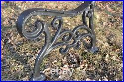 2 schöne Bankfüße Seitenteile Gartenbank aus Gusseisen Schwarz -9 Bretter -ZAG12