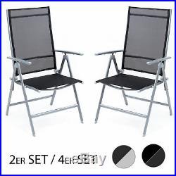 2er o. 4er Set Klappstuhl Campingstuhl Hochlehner Gartenstuhl Aluminium Outdoor