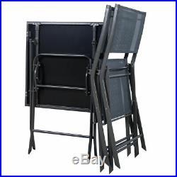 3 Pcs Bistro Set Garden Backyard Table Chairs Outdoor Patio Furniture Folding