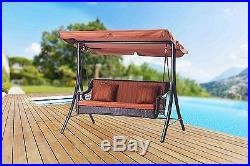3 Person Patio Swing Canopy Outdoor Furniture Porch Yard Seat Bench Backyard New