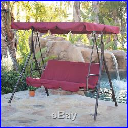 3-Person Patio Swing Canopy Tilt Awning Hammock Steel Furniture Hammock NEW