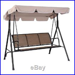 3 Person Patio Swing Outdoor Canopy Awning Yard Furniture Hammock Steel New