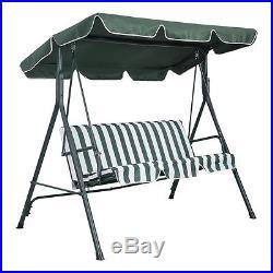 3 Person Swing Outdoor Patio Canopy Awning Yard Furniture Hammock Steel Green