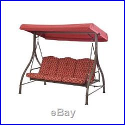 3-Seat Cushion Swing Mainstays Ashwood Heights Steel Canopy Outdoor Patio New