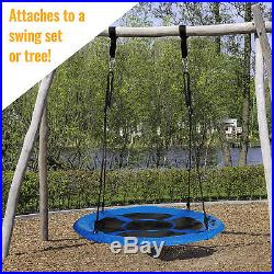 40'' Wide Outdoor Children's Web Swing Playground Platform Tree Net Garden Toys