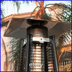 42000 BTU Garden Radiance (Dancing Flames) Pyramid Heater Propane Patio, Black