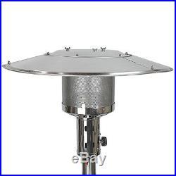 48000 BTU Standing Propane Patio Heater Stainless Steel / Bronze / Mocha LP Gas