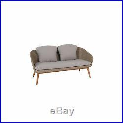 4-tlg. Akazienholz Lounge Set Sitzgruppe Sitzgarnitur Gartengarnitur Loungesofa