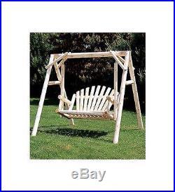 5 Fanback Style Cedar Garden Swing ID 43