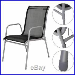 5 PCS Bistro Set Garden Set of Chairs and Table Outdoor Patio Furniture