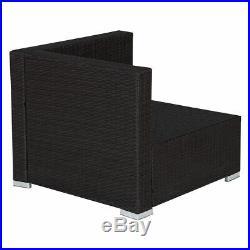 5 PCS Patio Furniture Set Rattan Wicker Table Shelf Garden Sofa With Cushion Brown