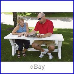 5ft. Outdoor Convert-a-Bench White