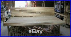 6Ft Cypress Eternal Wood Porch Swing Bed With Heavy Duty 10Ft Galvanized Chain Set