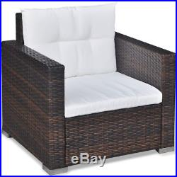 6PC Outdoor Rattan Wicker Sofa Garden Sectional Couch Patio Furniture Set Brown