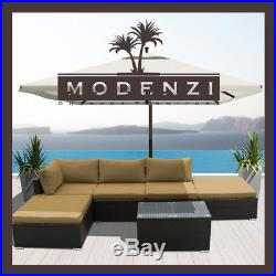 6Pc Outdoor Patio Furniture Rattan Sectional Wicker Sofa Chair Couch Set L