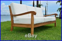 6 Pc Large Teak Wood Garden Indoor Outdoor Patio Sofa Set Furniture Pool Napa