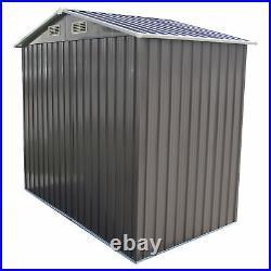 6' x4' Garden Storage Shed Steel Garage Utility Tool Backyard Lawn Outdoor