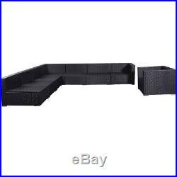 7PCS Outdoor Wicker Rattan Cushioned Patio Sofa Set Patio Garden Furniture NEW