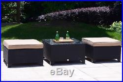 7 PC Patio Rattan Wicker Furniture Backyard Garden Sectional Sofa Set With Cushion