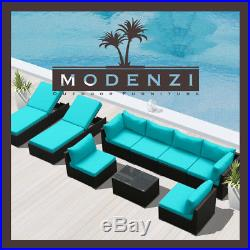 9PC Outdoor Patio Furniture Rattan Wicker Sectional Sofa Chair Couch Lounge Set