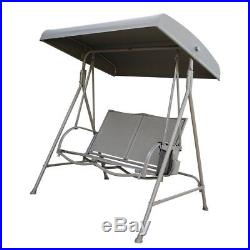 Abba Patio Outdoor Swing Canopy Hammock 2 Seat Porch Furniture With Steel Frame