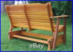Amish Made 4' Cedar Glider