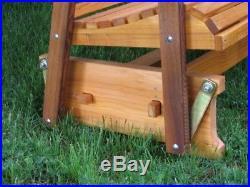 Amish Made Cedar 2' Fanback Glider