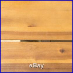 Avy Outdoor Rustic Industrial Acacia Wood Bench with Metal Hairpin Legs, Teak