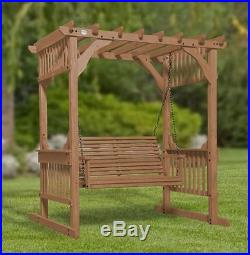 Backyard Discovery Hanging Pergola Swing With Traditional Finish Outdoor  Patio