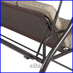Best Choice Products Converting Outdoor Swing Canopy Hammock Seats 3 Patio Deck