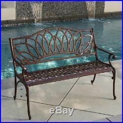 Brockway Brown Patio Bench