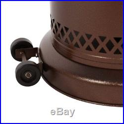 Bronze Patio Heater Garden Outdoor Heater Propane Standing LP Gas 48000BTU