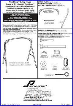 Bronze Steel Swing Frame, Porch Patio Furniture Outdoor Bench Parts and