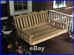 CEDAR 6' Royal English Garden Porch SWING BED 8 STAIN COLORS Oversized Swing