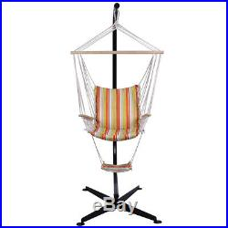 C Frame Hammock Stand Hanging Swing Chair Solid Steel Construction Air Porch