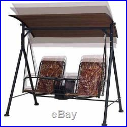 Camo Porch Swing With Canopy Outdoor Chair Seat Patio Lounge Bench Furniture
