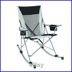 Camp Rocking Chair Oversized Folding Patio Lawn Reclining Camping Fishing Beach
