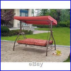 Canopy Hammock Swing Patio 3 Seat Cushion Outdoor Porch Deck Furniture Garden