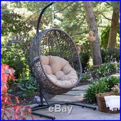 Chair Hanging Swing Wicker Stand Egg Indoor Outdoor Porch Patio Garden