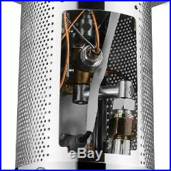 Commercial LP Gas Outdoor Patio Garden Heater Propane Stainless Steel Black