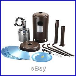 Commercial LP Gas Outdoor Patio Garden Heater Propane Stainless Steel Mocha