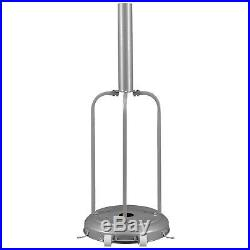 Commercial LP Gas Outdoor Patio Garden Heater Propane Stainless Steel Silver