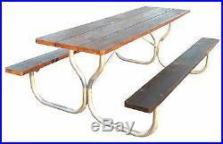 Commercial grade aluminum 8' picnic table frameRosendale Picnic Tables