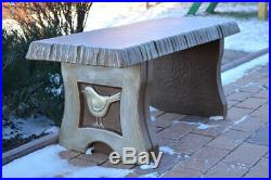 Concrete mold Bench sold set 3 pcs garden benches top bench long 40 2 legs B04